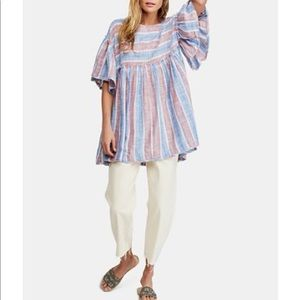 Free People Blue Summer Nights Tunic
